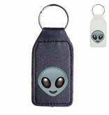 Alien emoji sleutelhanger