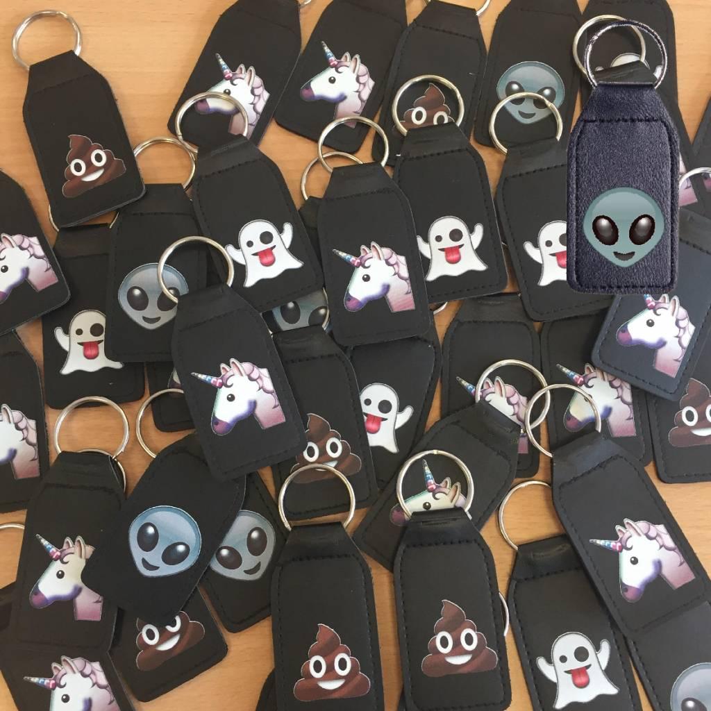Lachende drol emoji sleutelhanger