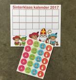 Sinterklaas aftel kalender  met stickers