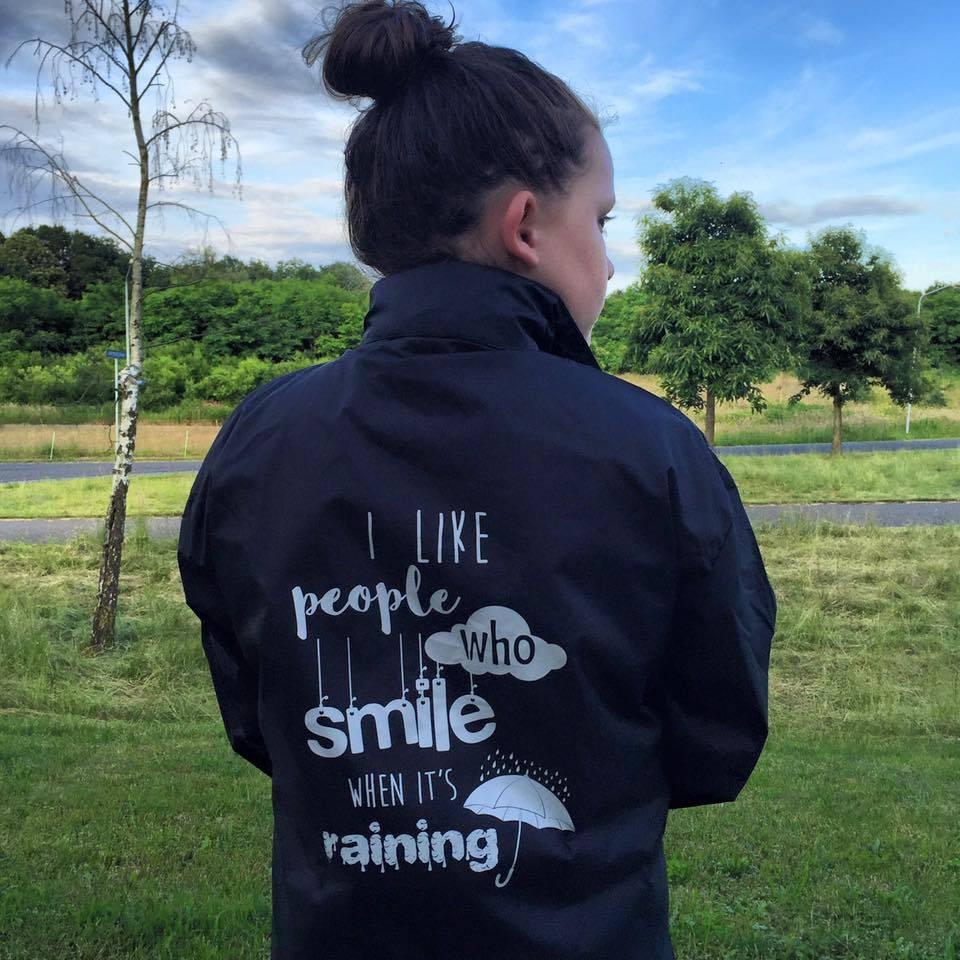 Windjack smile when it's raining