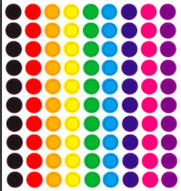 100 stickertjes in verschillende kleuren