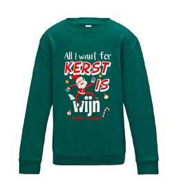 All I want for kerst is wijn sweater