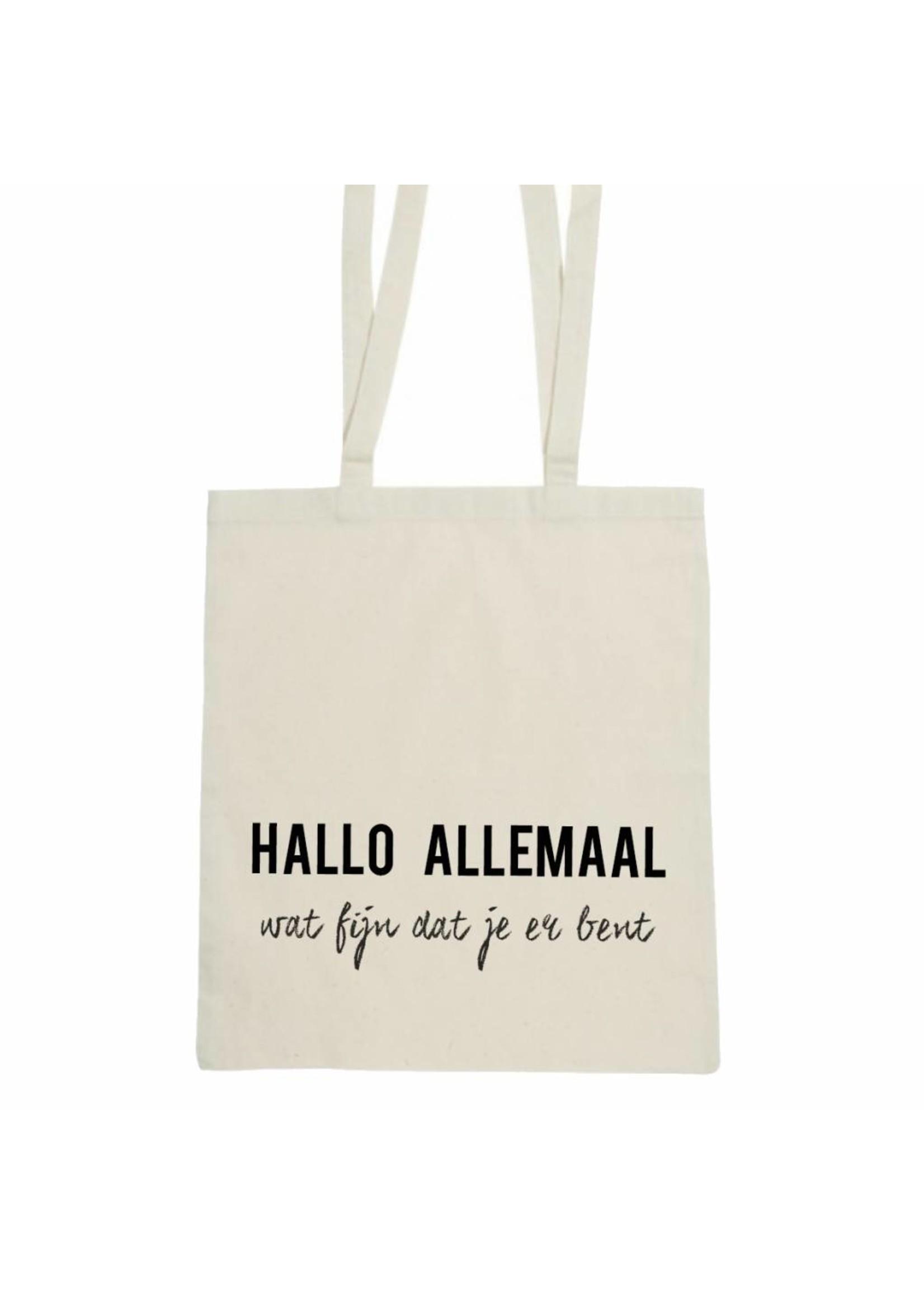 Hallo allemaal wat fijn dat je er bent tas