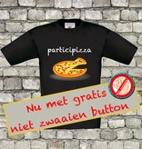 Participizza t-shirt -met gratis niet zwaaien button