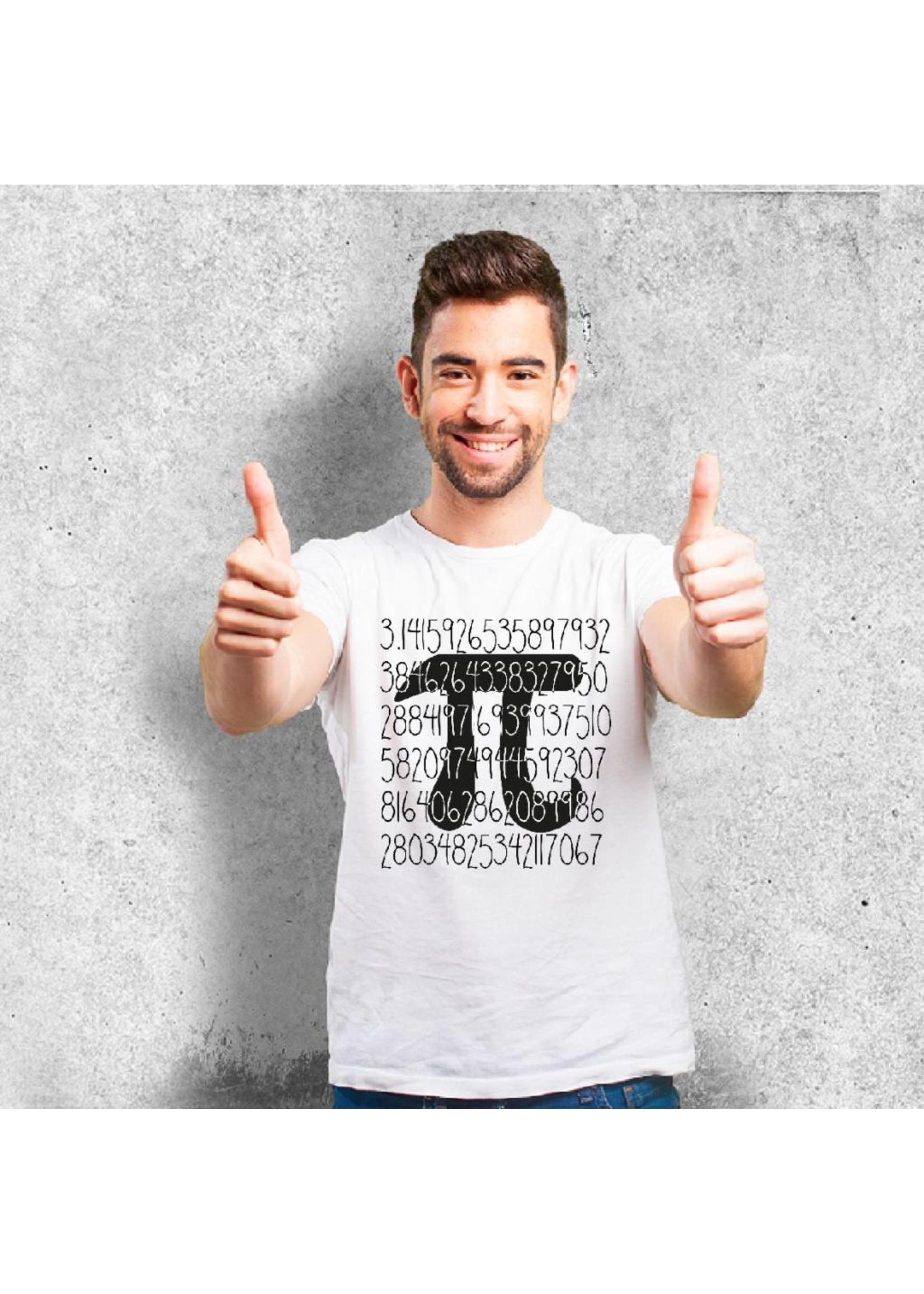 T-shirt met het getal pi