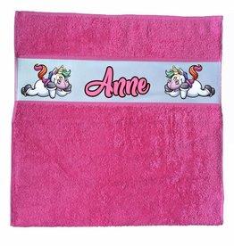Handdoek unicorn met naam