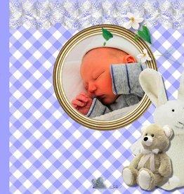 Bellenblaas geboorte met foto blauw