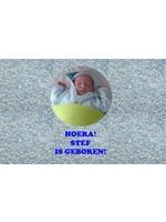 """Bellenblaas met foto """"geboorte"""""""