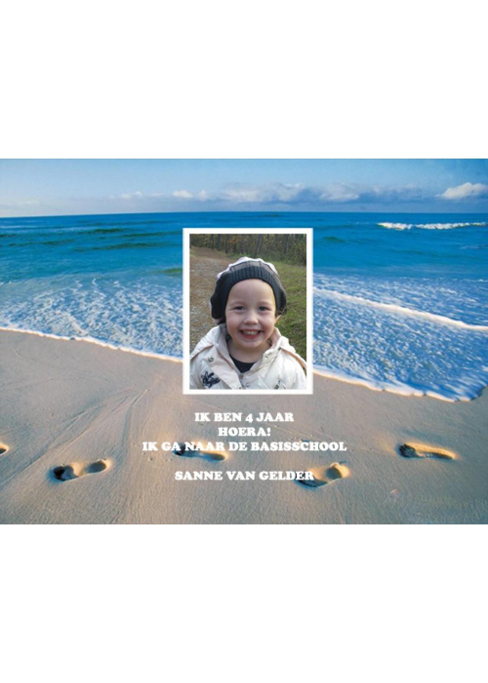 Bellenblaas - strand met foto