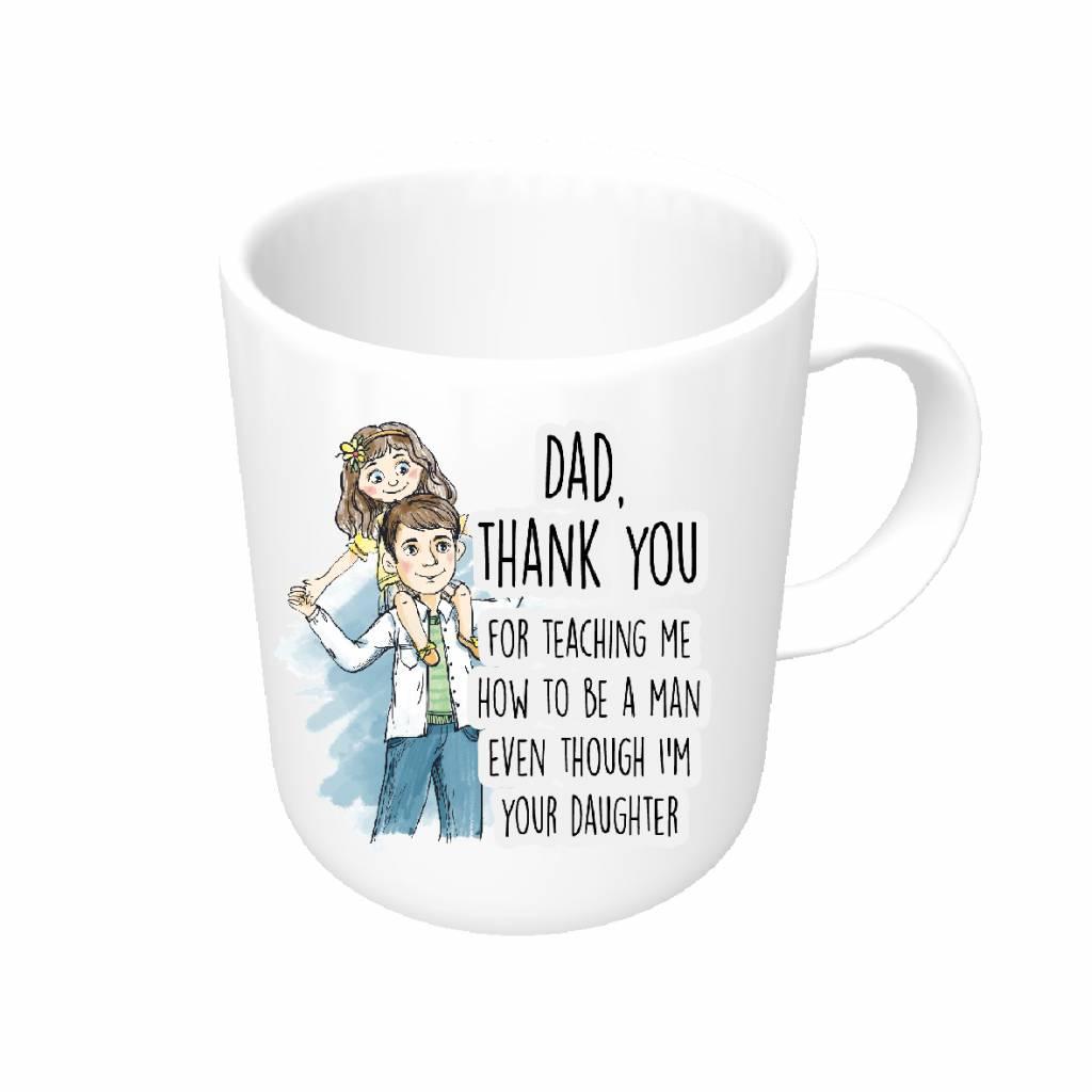 Vaderdag mok - dochter -  thank you dad