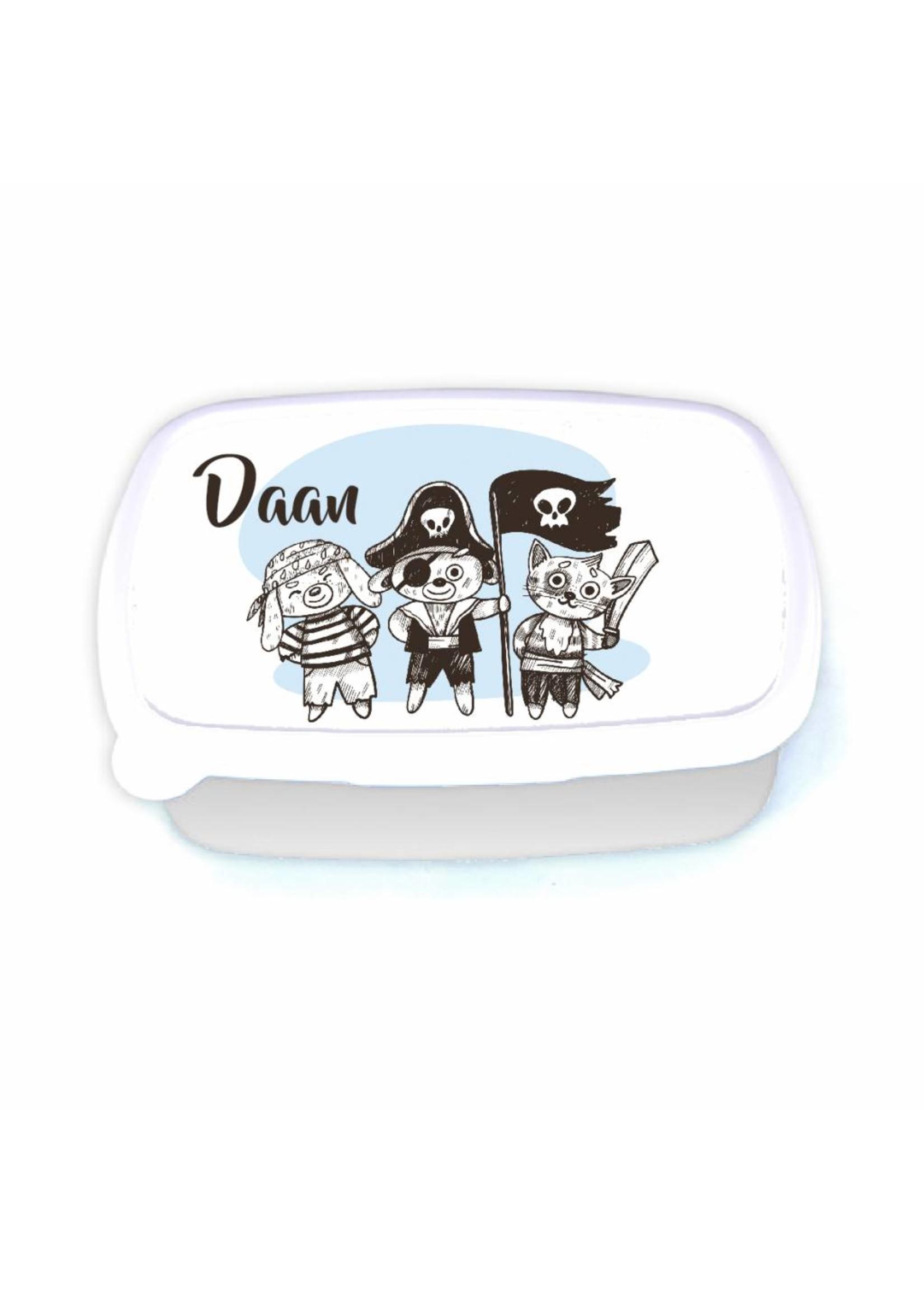 Lunchbox piraat met naam