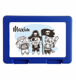Lunchbox broodtrommel piraat met naam