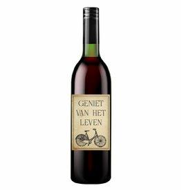 Wijn - fiets - eigen tekst