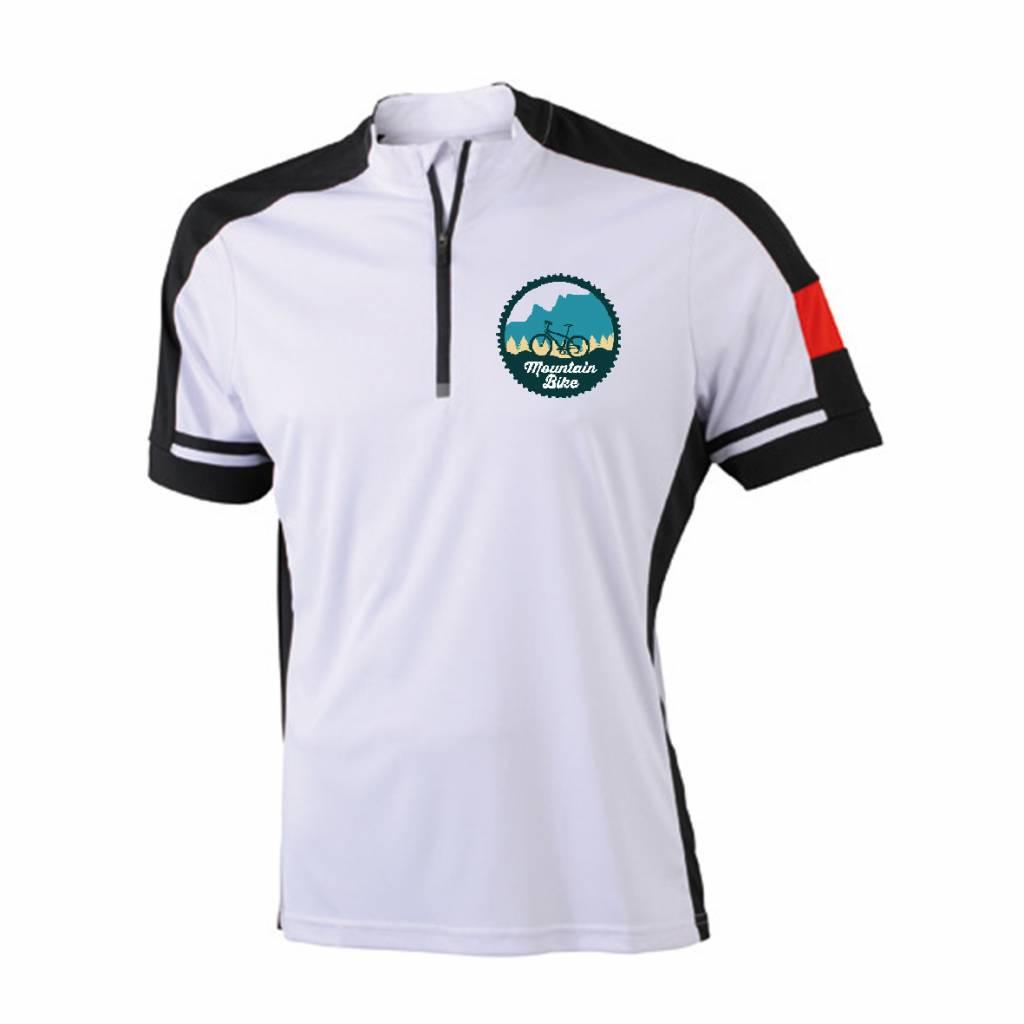 Mountain bike shirt met tekst naar wens