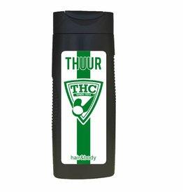 Hair&body met naam en logo THC of andere club
