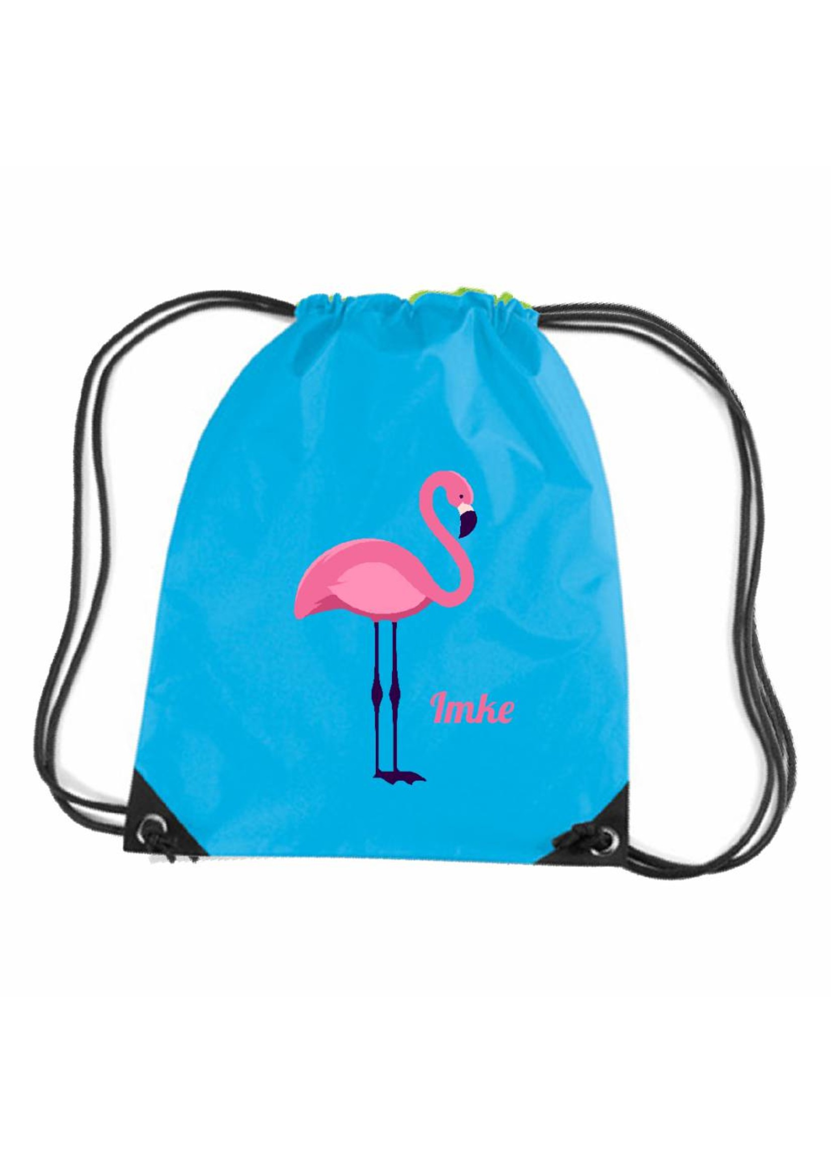 Gymtas flamingo met naam