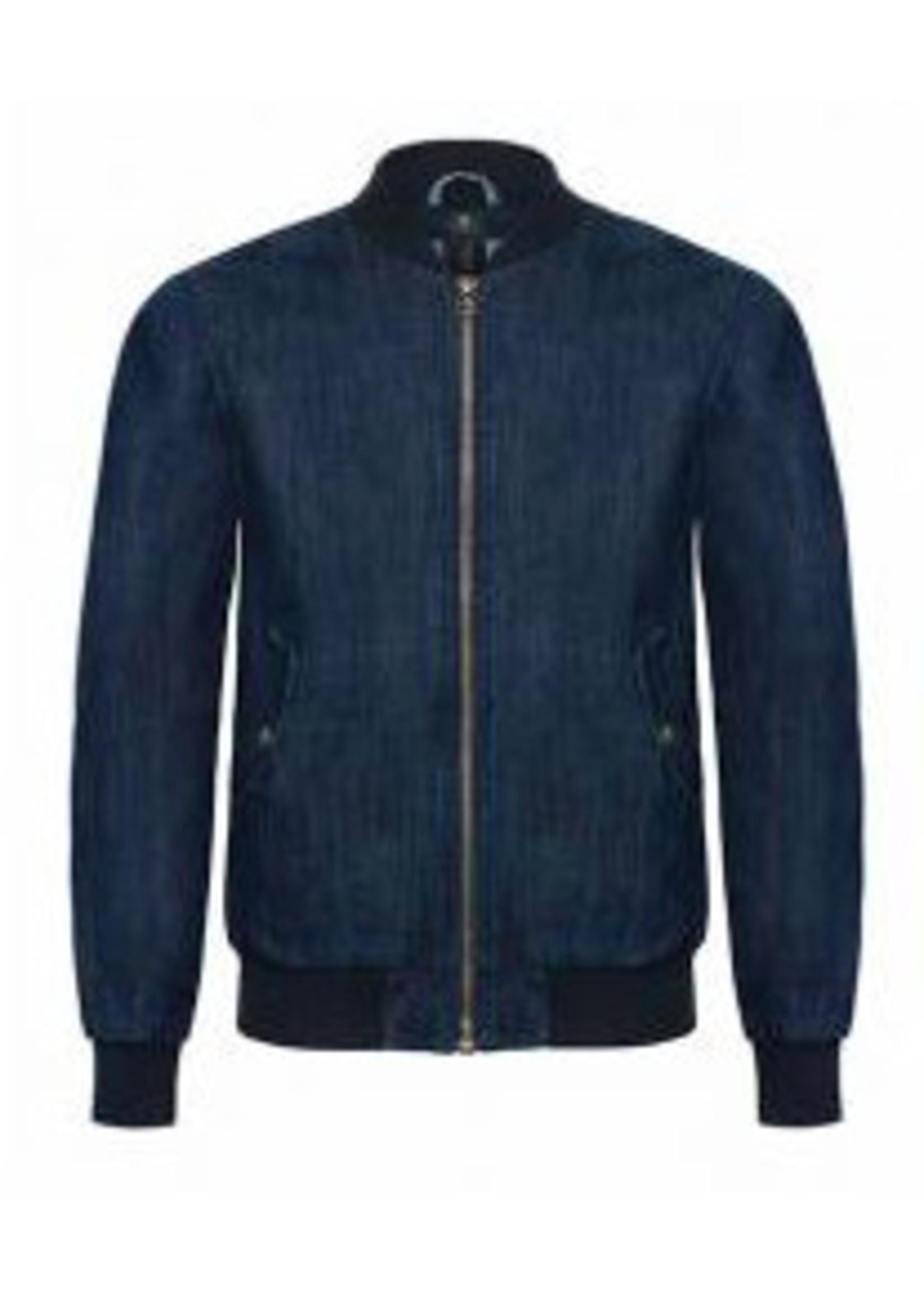 Denim heren jacket met bedrukking naar wens