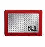 Lunchbox met metaalprint en naam