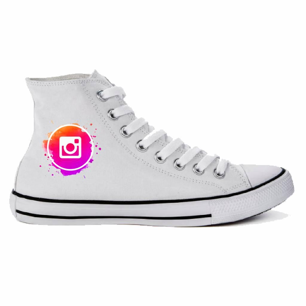 Sneaker met instagram of ander logo