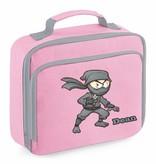 Koeltasje voor de lunch ninja met naam