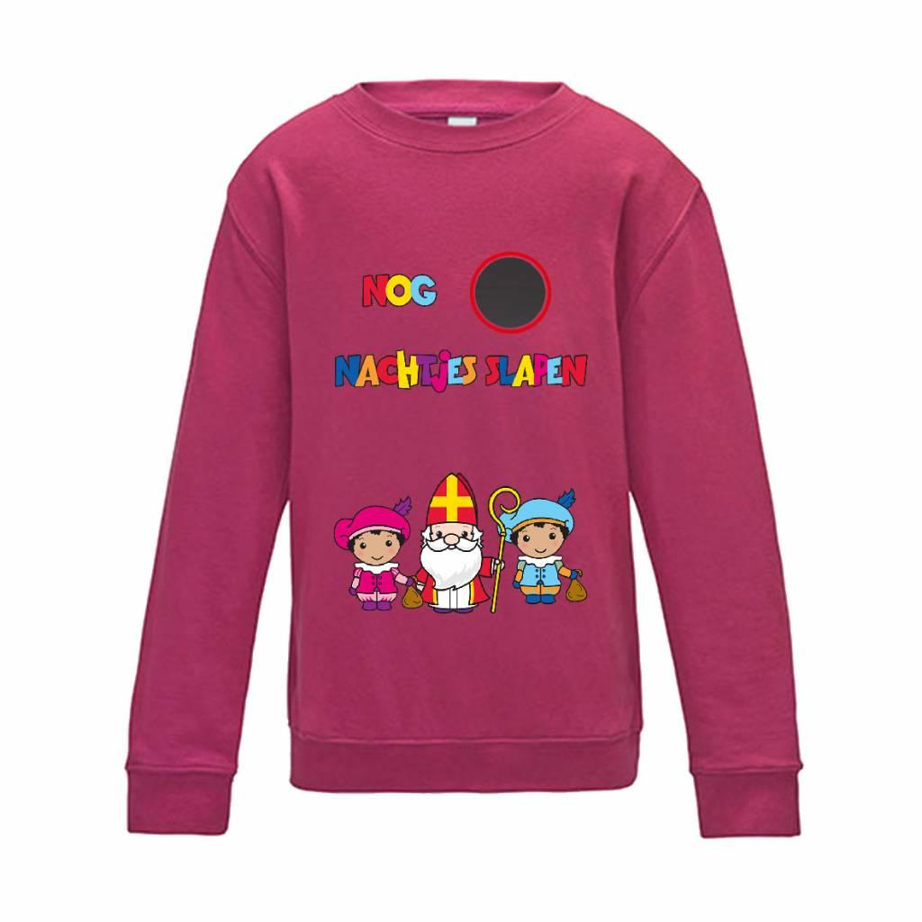 Aftelkalender Sinterklaas sweater met krijtje