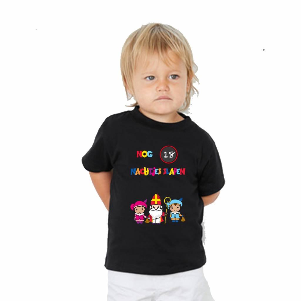 Aftel t-shirt Sinterklaas met krijtje