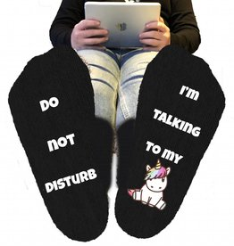 Do not disturb unicorn sokken