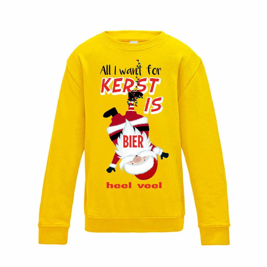 All I want for kerst is wijn kerst sweater