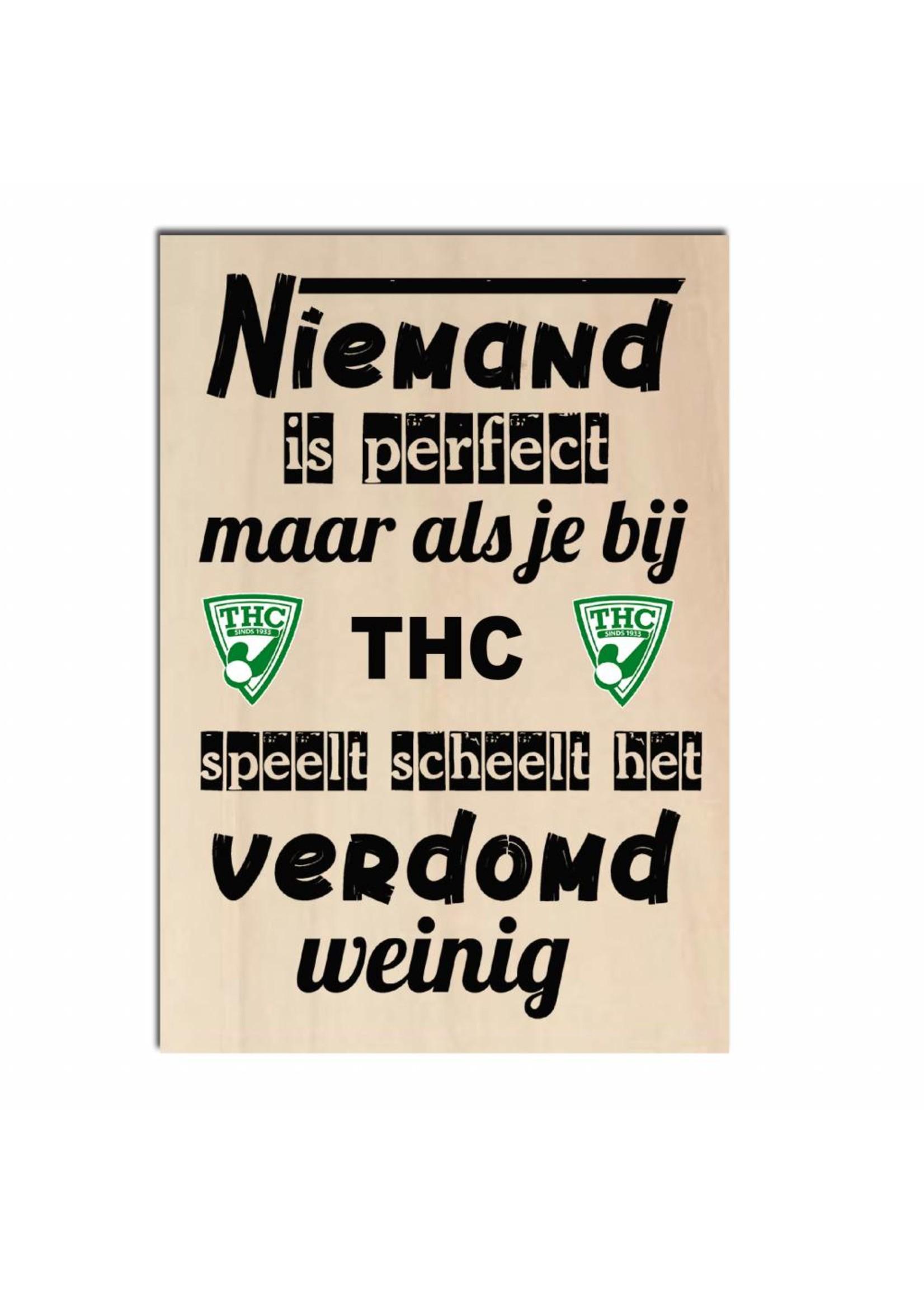 Bedrukt hout - THC of andere club