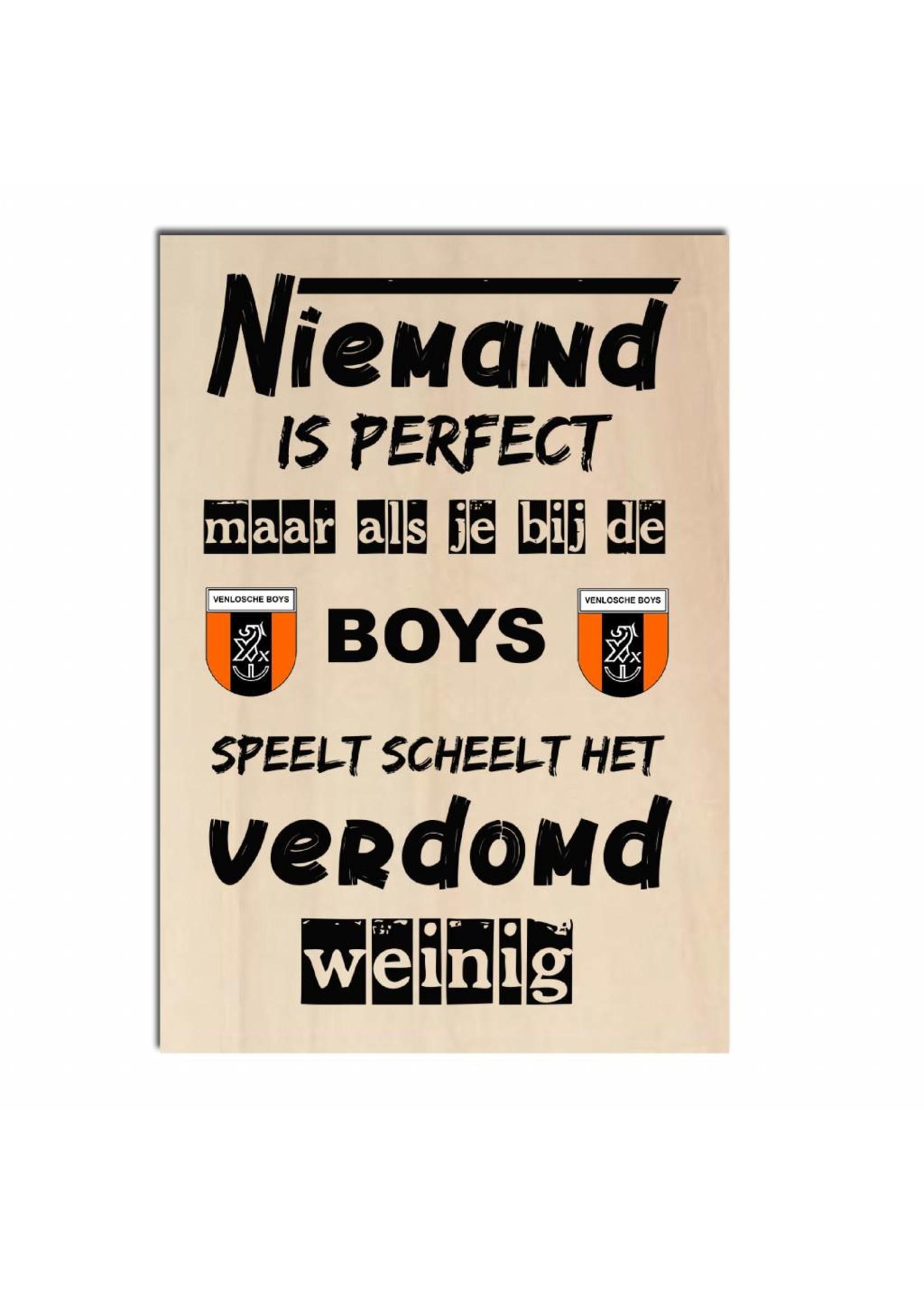 Bedrukt hout - Venlosche Boys  of andere club