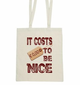 Katoenen tas It costs € 0,00 to be nice