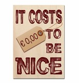Bedrukt hout - It costs €0,00 to be nice