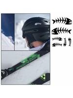 Ski stickers vissengraad