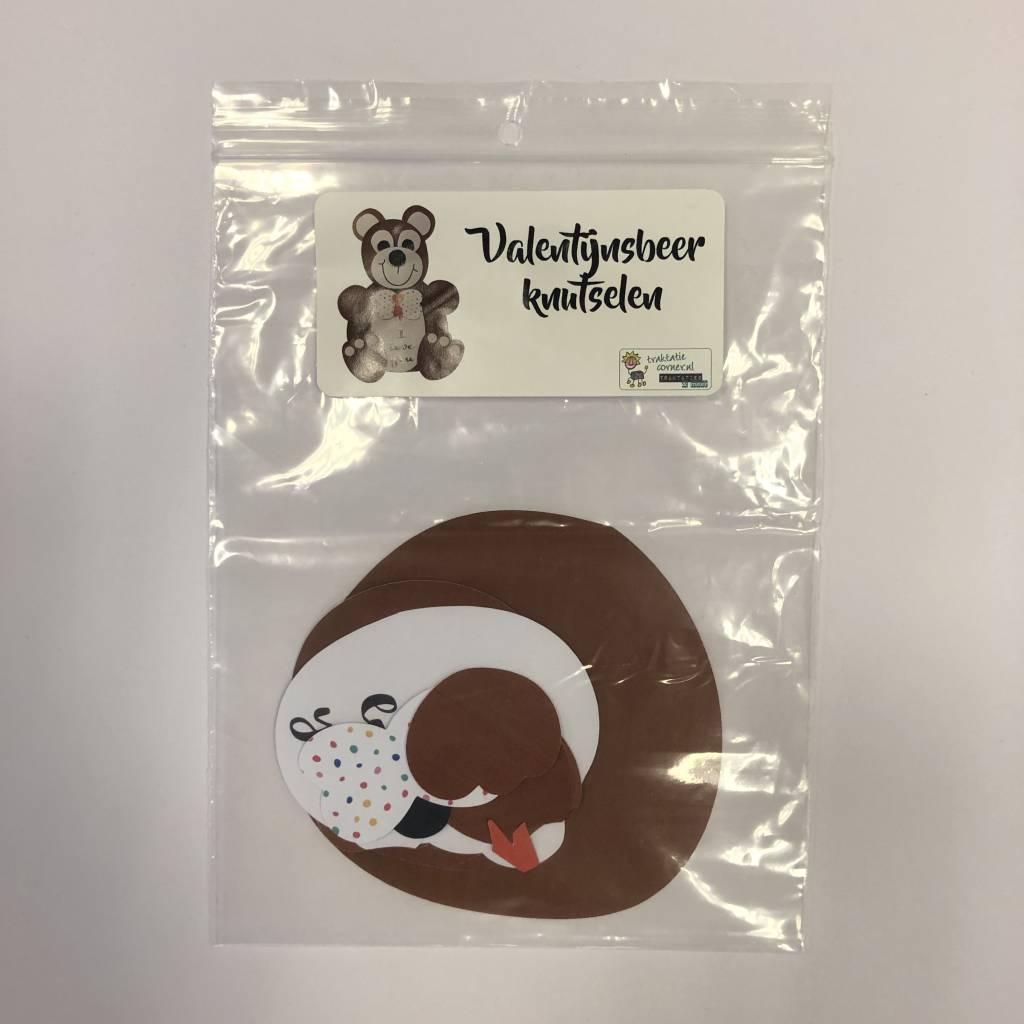 Knutselpakket valentijnsbeer - uitgeknipt