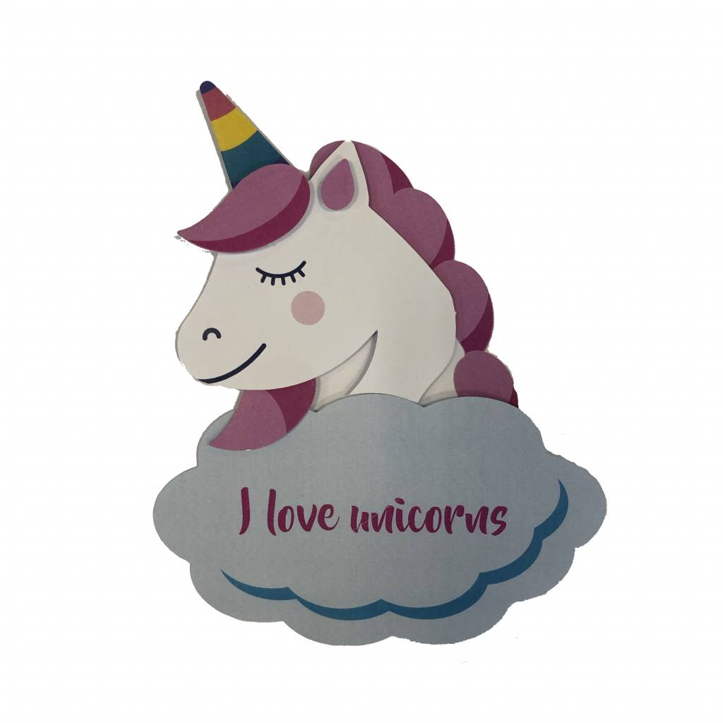 Knutselpakket unicorn - uitgeknipt