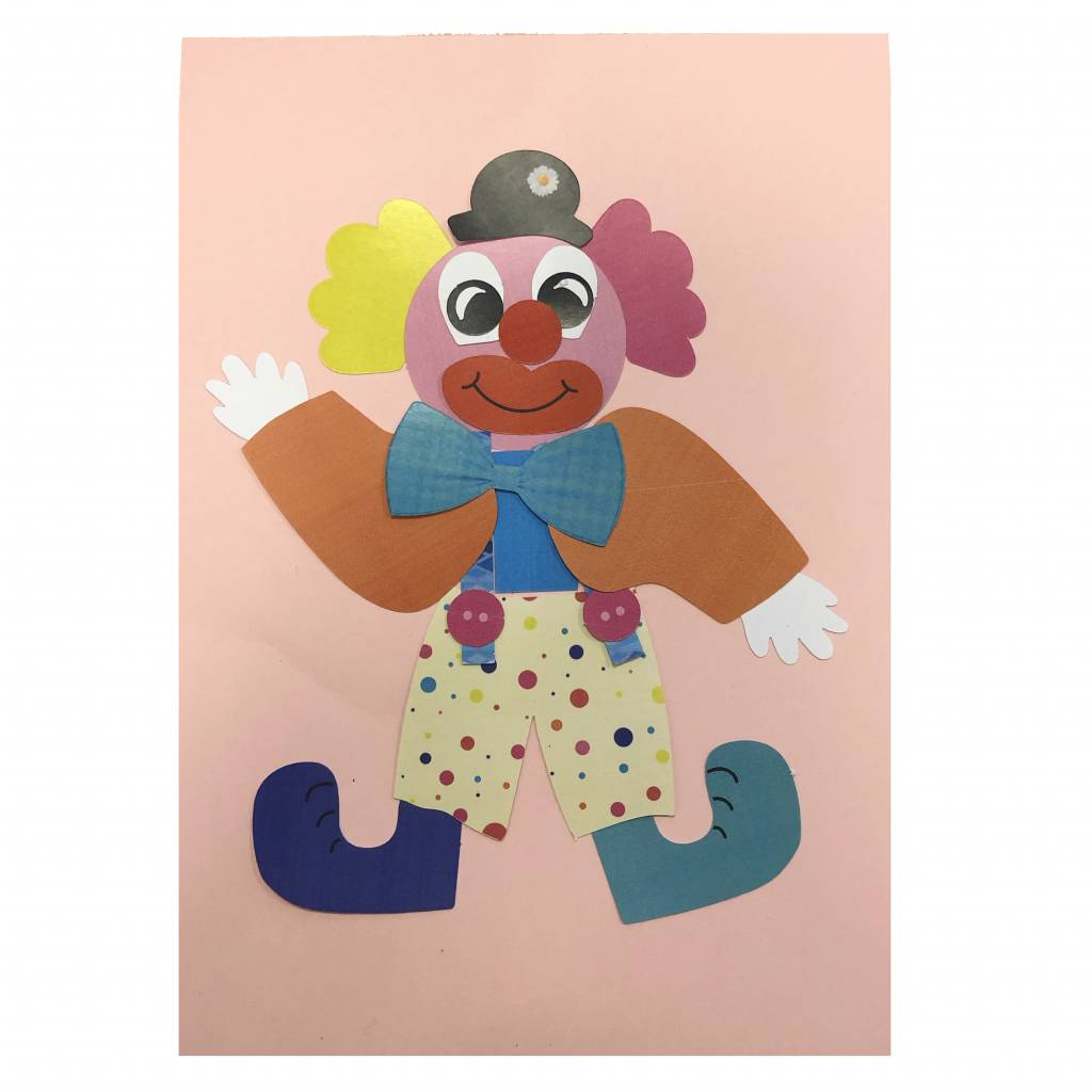 Knutselpakket clown