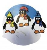 Pinguins op cirkel knutselen- uitgeknipt
