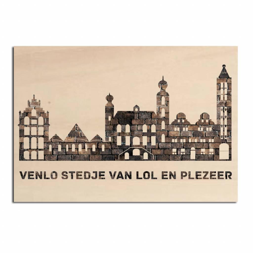 Skyline Venlo op hout