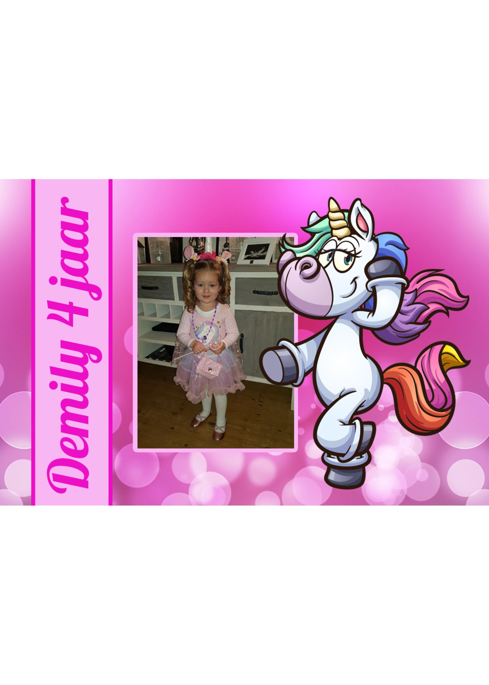 Bellenblaas unicorn met foto