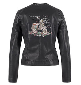 Biker jacket boho scooter