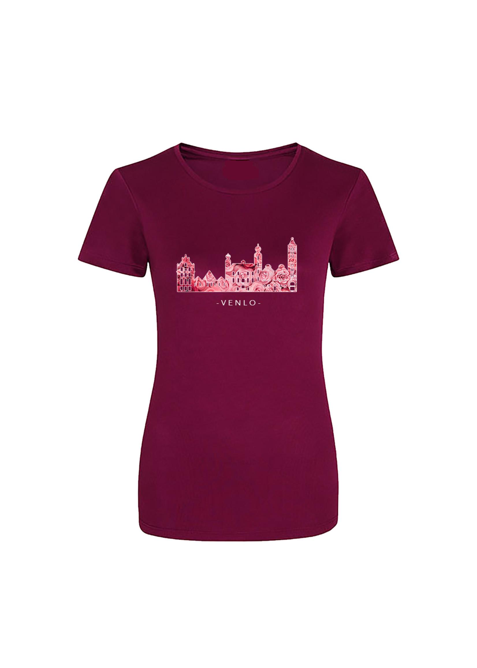 Skyline Venlo sportshirt quick&dry - rozenprint