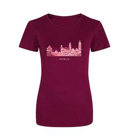 Skyline Venlo sportshirt - rozenprint
