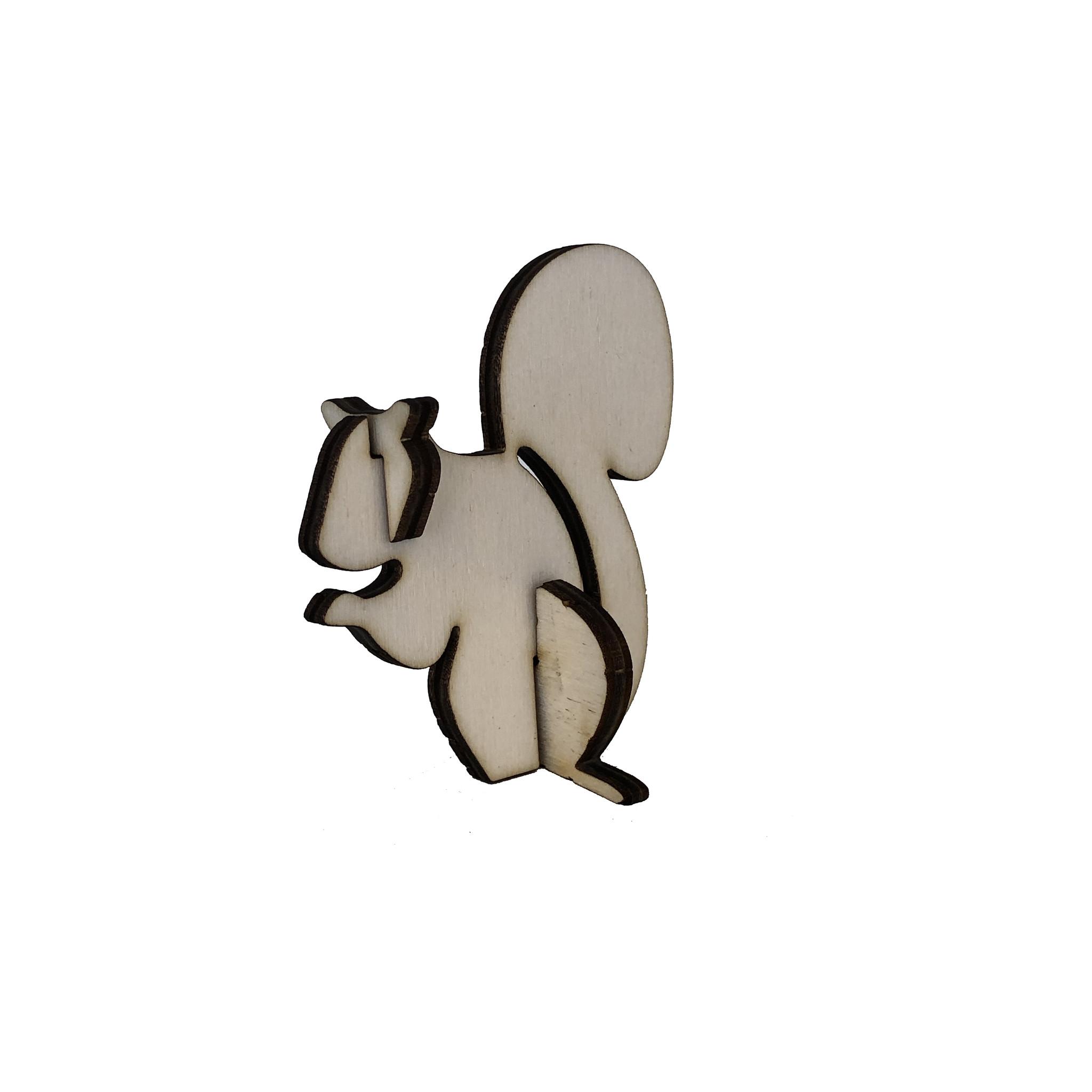 Houten eekhoorn 3d puzzeltje