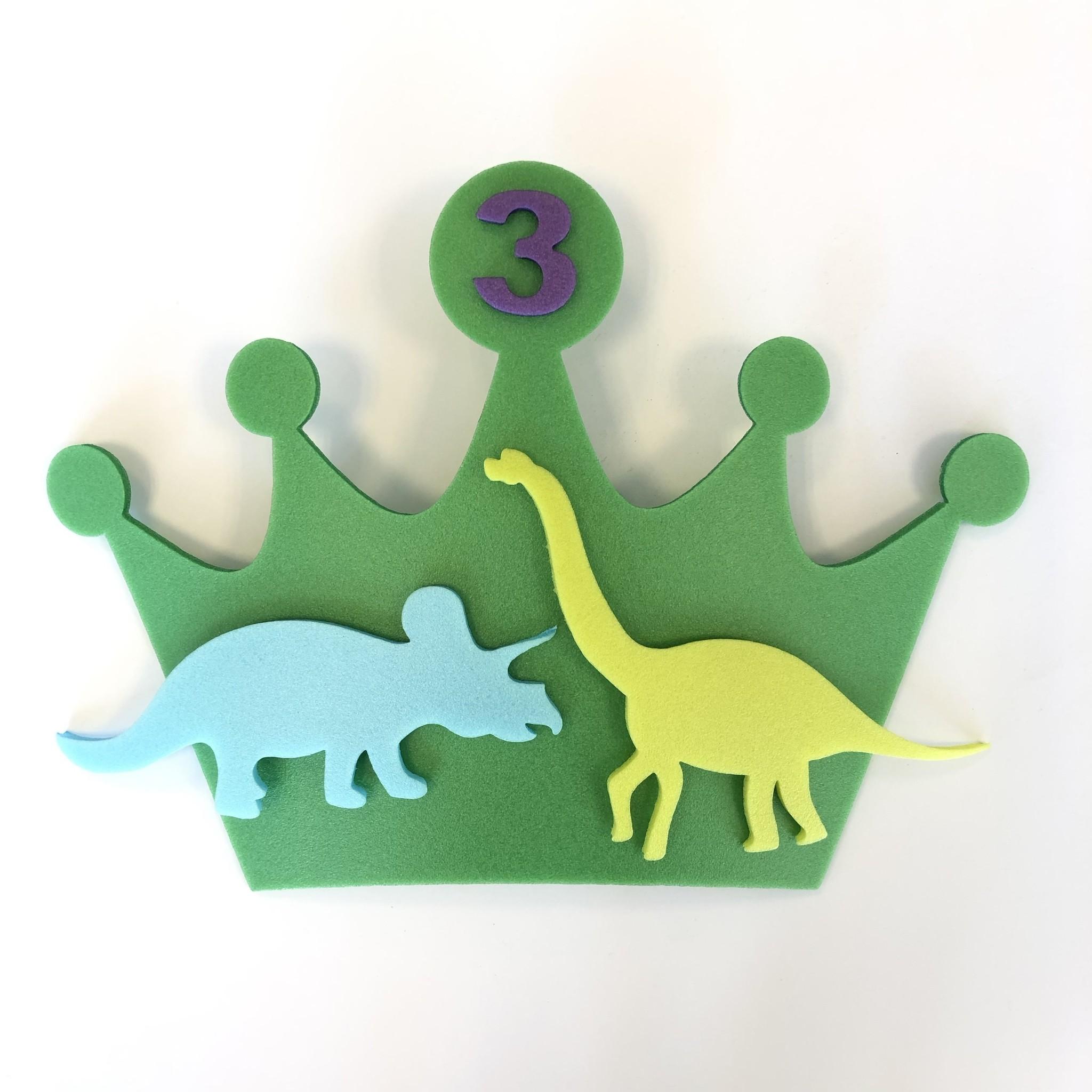 Kroon dino's met leeftijd van foam