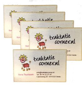 50 Houten visitekaartjes - full color bedrukt