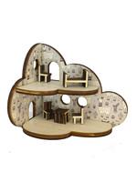 Mini poppenhuisje in de vorm van een wolk in lama thema