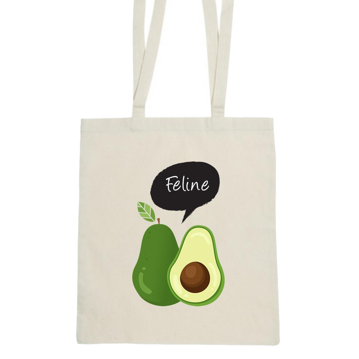 Avocado tas met naam