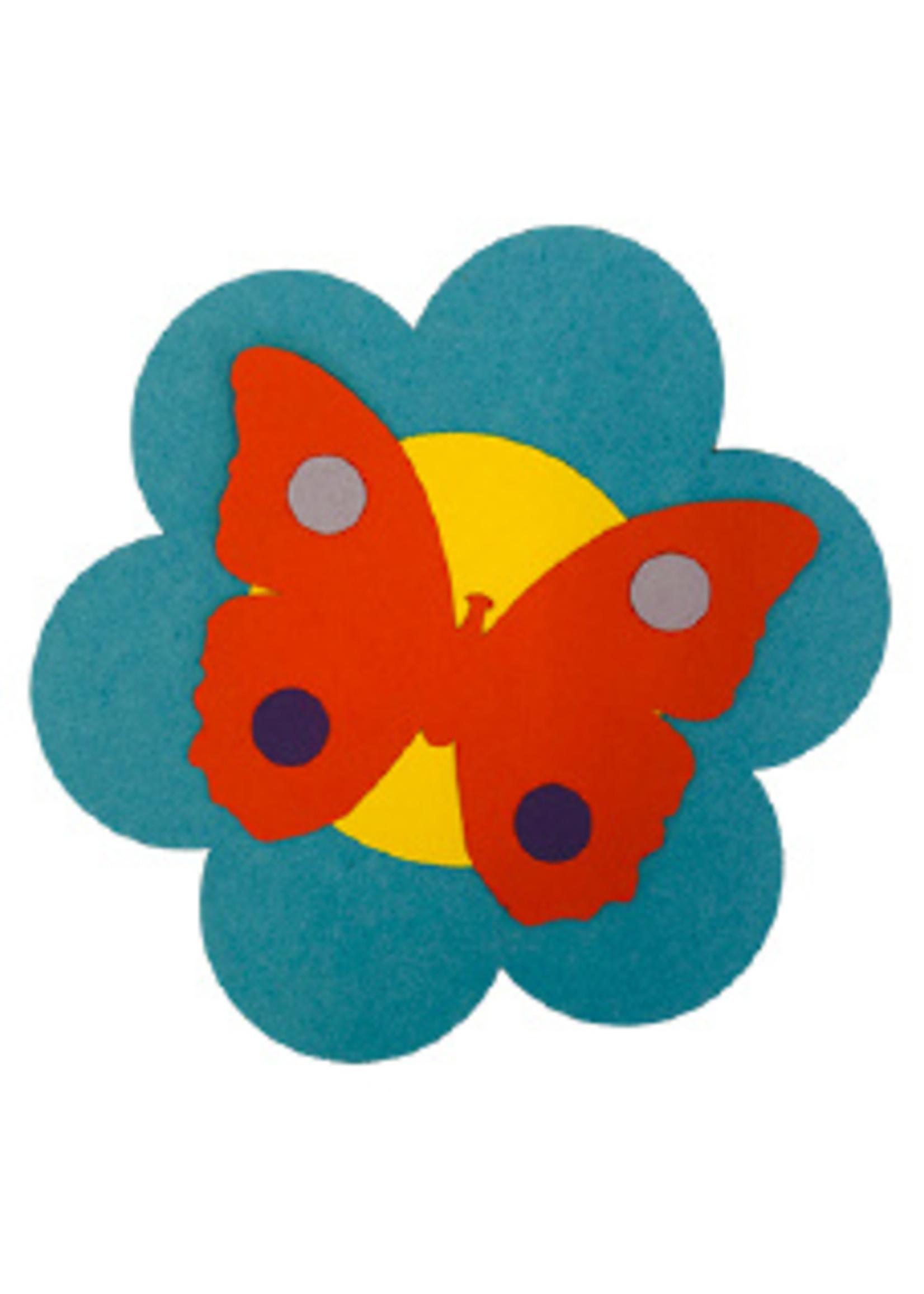 Knutsel pakket bloem met vlinder 1