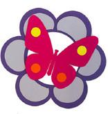 Knutsel pakket bloem met vlinder 2