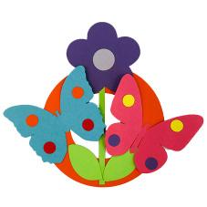 Knutsel pakket bloem met vlinder 3